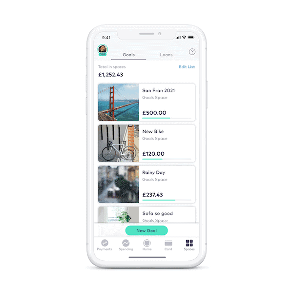 Starling bank account spaces
