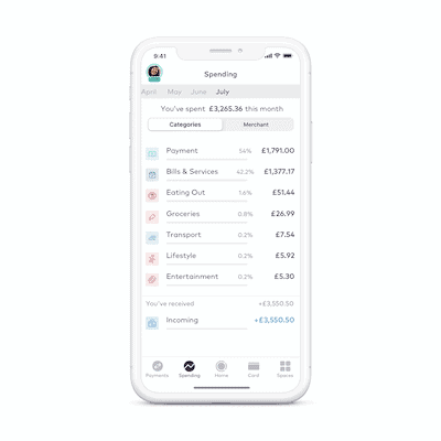 StarlingBank Personal Account Product SPENDING INSIGHTS