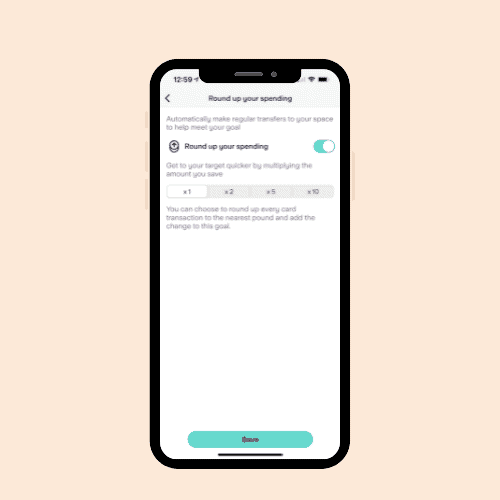 starling bank round up spare change in starling app