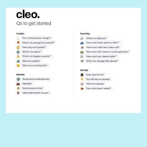 what can you ask cleo