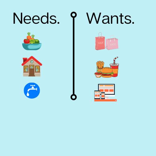 needs vs wants